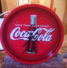Rare Coke Fluro Light Sign Clock 27cm Diameter GWO