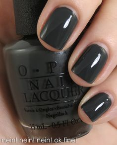 OPI Germany Collection for Fall/Winter 2012 Nein Nein Nein! Ok Fine!