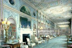 Stock Photo : interior - the long gallery, Syon house, London, England.