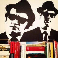 Blues Brothers wall sticker in my bedroom!