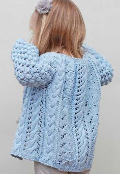 The Helena Bean Cardigan knitting pattern is now available on Ravelry, Etsy, and Craftsy! The Helena Bean Cardigan features cables, lace, and bobbles for a unique texture. The result is … Baby Cardigan Knitting Pattern Free, Kids Knitting Patterns, Cardigan Pattern, Knitting For Kids, Baby Patterns, Hand Knitting, Sweater Patterns, Double Pointed Knitting Needles, Circular Knitting Needles