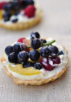 Fruit Tartlet with shortbread crust.