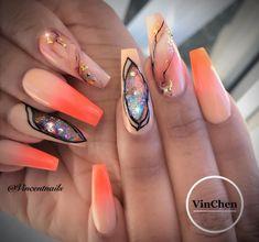 #vchenart #artlover #coffinnails #ombrenails #tallahasseenails #allpowder #marblenails #nails2inspire