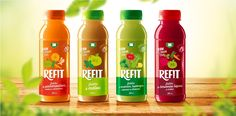 Refit - 100% Raw Juice on Packaging of the World - Creative Package Design Gallery