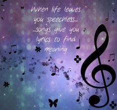I'm sure there is a song for every feeling and every situation out there! Music is the voice when we can't find the words! music quotes Golden Nuggets Of Wisdom- From - Famous - Composers Music Lyrics, Music Songs, My Music, Kinds Of Music, Music Is Life, K Om, Jason Mraz, Sara Bareilles, Yours Lyrics