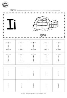 Free Letter I Tracing Worksheets : Free Letter I Tracing Worksheets Letter I Activities, Letter Worksheets For Preschool, Alphabet Tracing Worksheets, Preschool Writing, Preschool Letters, Writing Worksheets, Preschool Printables, Alphabet Writing, Abc Tracing