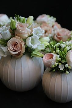 Corporate Flower Arrangement. BEAUTIFUL!! You could do these in pumpkins for fall too.
