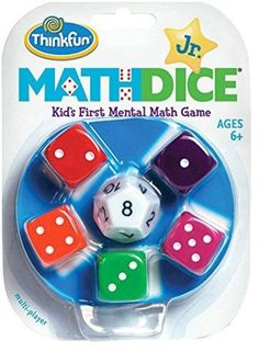 Think Fun Math Dice Junior Game for Boys and Girls Age 6 and Up - Teachers Favorite and Toy of the Year Nominee Math Games For Kids, Dice Games, Math Activities, Fun Games, Kids Math, Therapy Activities, Math Drills, Addition Games, Early Math