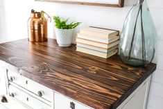 Farmhouse Furniture: Distressed and Plank Tops