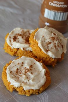 Softer than a regular sugar cookie my Keto Pumpkin Cookies with Maple Cream Cheese Frosting are even more delicious. Softer than a regular sugar cookie my Keto Pumpkin Cookies with Maple Cream Cheese Frosting are even more delicious. Low Carb Sweets, Low Carb Desserts, Low Carb Recipes, Dessert Recipes, Steak Recipes, Dinner Recipes, Keto Cookies, Cheese Cookies, Healthy Pumpkin Cookies