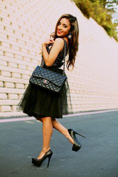 Tutu and black heels