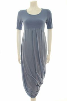 Out of Xile COTTON SATIN Midi Dress in Teal Made of a soft jersey top and a6fa4696e42
