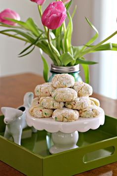 Confetti Cookies on tray