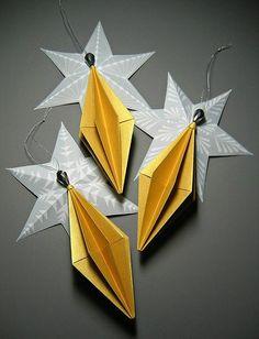 Diamond Origami Ornaments