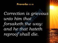 proverbs 15 10 stern discipline awaits those who leave powerpoint church sermon Slide05  http://www.slideteam.net/