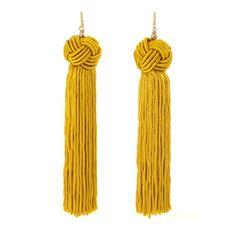 Rank & Style - Vanessa Mooney The Astrid Knotted Tassel Earrings #rankandstyle