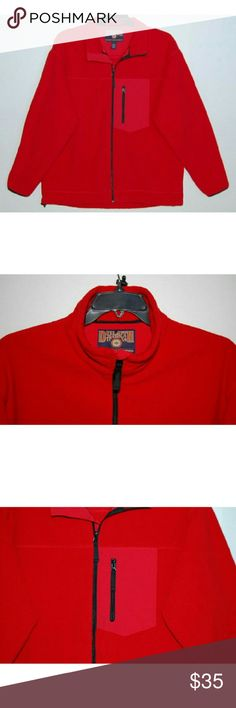 "Duluth Trading Co full zip mock neck fleece jacket Lined. 3 front pockets. Length 30"". Chest 24 1/2"". Sleeve 35 1/2"". Shell & lining 100% polyester. Duluth Trading Co Jackets & Coats Windbreakers"