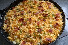 Traeger grill ...bacon scalloped potatoes