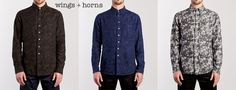 Wings-And-Horns-Camouflage-Jacquard-Long-Sleeve-Shirt
