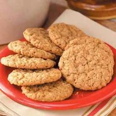 My family loves these big old-fashioned cookies. They're crisp, yet still chewy in the center, and the cinnamon makes them a little different from typical oatmeal cookies.
