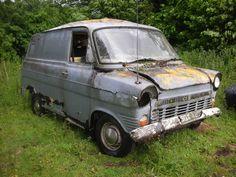 abandoned Ford Transit