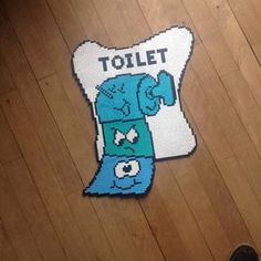 Toilet sign hama beads by tinahendriksen Diy Perler Beads, Pearler Beads, Plastic Canvas Crafts, Plastic Canvas Patterns, Melting Beads, Pokemon, Lego Projects, Fancy, Bead Art