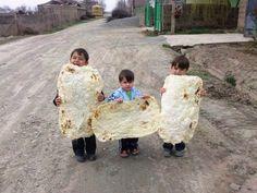 خبز أرميني ..اطفال من ارمينياArmenian kids