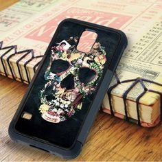 Floral Skeleton Samsung Galaxy S5 Case
