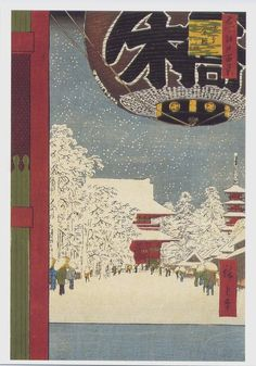 Asakura in the snow by Hiroshige