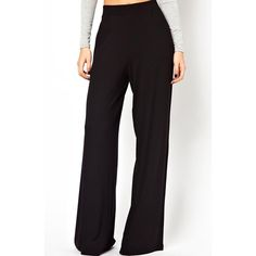 Casual Style High Waist Solid Color Waisted Corset Wide Leg Women's Pants, BLACK, M in Pants & Shorts   DressLily.com