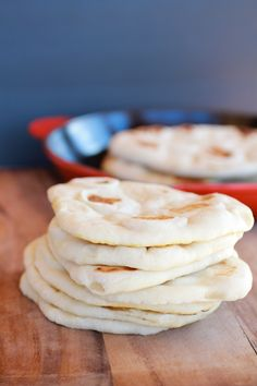 Traditional Greek Pita Bread by Half Baked Harvest Greek Pita Bread, Half Baked Harvest, Harvest Bread, Bread And Pastries, Greek Recipes, Scones, Love Food, Food And Drink, Cooking Recipes