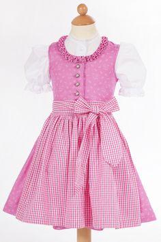 Baby Dirndl Heidi cotton in pink