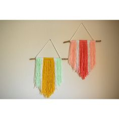 Yarn wall hanging. Perfect accent pieces for that special nook. Each piece is sold separately and measures 12 x 19.