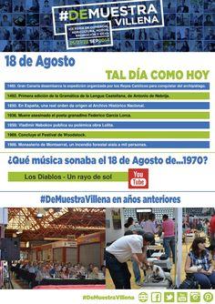 TAL DÍA COMO HOY. 18 de Agosto. #DeMuestraVillena  www.muestravillena.villena.es www.facebook.com/Muestravillena @muestravillena