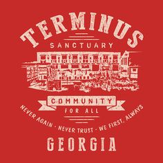 Top TWD Terminus T Shirts | 5. Terminus Sanctuary Community (light) – by Olipop