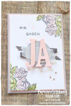 PapierverSUchung Design Team: Hochzeit - Karin's Kreativkiste