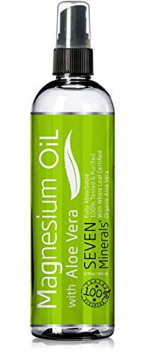 Magnesium Oil with ALOE -Best for Sore Muscles, Leg Cramps, Restless Legs Syndrome, Headache & Migraine