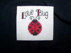 Cross stitch magnet .. made for friend