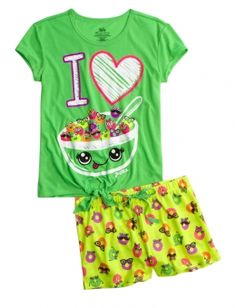Cereal Pajama Set with scent from Justice