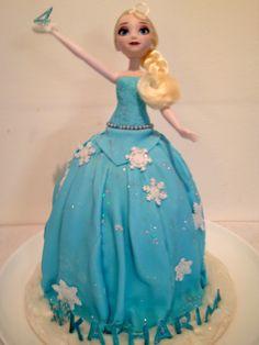 Frozen Elsa Cake Elsa Doll Cake, Elsa Cakes, Fantasy Cake, Elsa Frozen, Disney Princess, Decorating, Book, Image, Decor