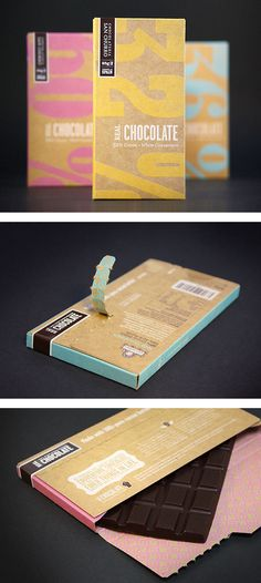 Nice typographic packaging for chocolate Dessert Packaging, Kraft Packaging, Cool Packaging, Chocolate Packaging, Packaging Design Inspiration, Box Design, Creative Package Design, Package Box, Autumn Photos
