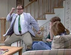 Chris Farley.   so damn funny!  I love the Chippendale's video of him and Patrick Swayze.   Pure genius!