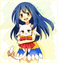 Wendy & Charle from Fairy Tail! OHMIGOH they're SO CUTE. Especially Charle.