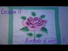 4eb0ed6e826 Lección 11  bordado al matíz 3 - YouTube Mesas Maquinas De Coser