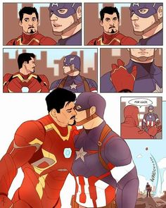 Fanart for Stick With Me, Baby, I'm the Fella You Came in With on by Annie D (scaramouche). Just one of the greatest Steve x Tony fics of all time. Marvel Funny, Marvel Memes, Marvel Dc, Captain Marvel, Stony Avengers, Avengers Comics, Dc Comics, Iron Man, Otp