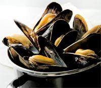 Sizzling Mussels in Exotic Broth from Romancing the Stove: the unabridged guide to aphrodisiac foods