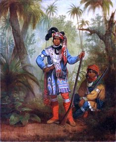Karl Ferdinand Wimar - Billy Bowlegs Charlie sent the photo below because of my interest in the Seminoles. I must admit that I have not studied them and cannot answer his questions. Can anyone help? He wrote: Seminole delegation (1852) – I am only sure of the third chief seated (from left): Billy Bowlegs. Who are the others chiefs? Do you know if photos or paintings exist of the 4 famous Seminole chiefs: Alligator – Arpeika – Jumper - Wild Cat Read more…
