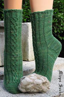 Hardknott socks, from http://www.ravelry.com/patterns/library/hardknott-socks