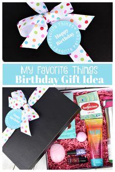 Birthday Gifts for Your Best Friends! This is a fun and creative way to wish your BFF a Happy Birthday-give your favorite person some of your favorite things. Fun, simple, creative gift idea. #fun-squaredgifts #birthdaygifts #bestfriendgifts #bestfriendbirthdaygifts
