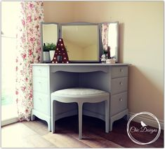 Excited to share the latest addition to my #etsy shop: Rare Stag Corner Dressing Table Including Stool / Bedroom Furniture / Dressing Table Mirror / NATIONWIDE DELIVERY AVAILABLE http://etsy.me/2AXsOAs #furniture #grey #yes #adult #stag #stagbedroom #stagfurniture #sta